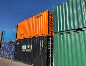 SEA Containers offers various grades, colours and height containers in Whangaproa